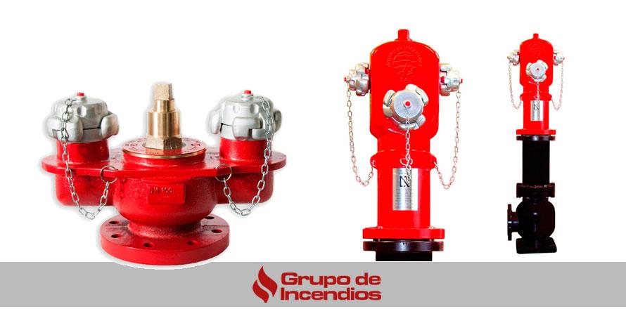 tipo de hidrantes para combatir el fuego